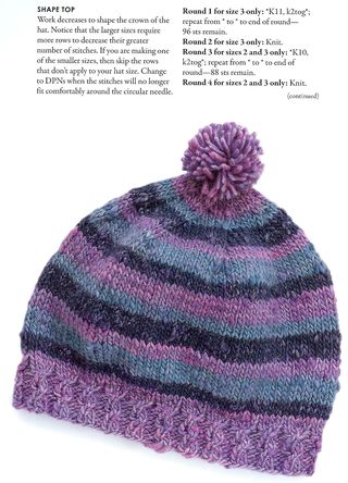 Free cable ribbed knit hat pattern