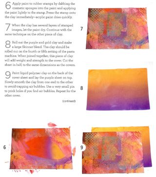 How to stamp polymer clay cover