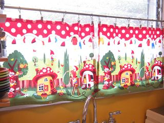 Michael miller gnomeville fabric curtains