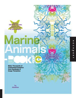 Marine animal clip art book cd