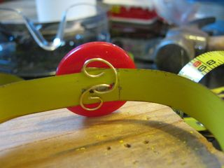 How to make a recycled tape measure cuff
