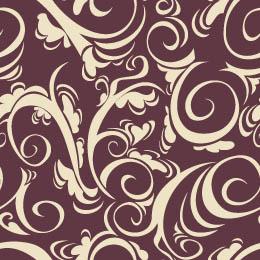Free swirl pattern print graphic curls