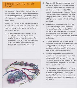 How to make yarn wrapped bead necklace