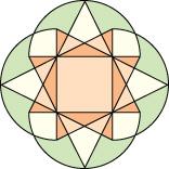 Ice cream cone pattern rotate overlap