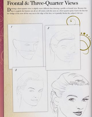 How to draw a three-quarter portrait