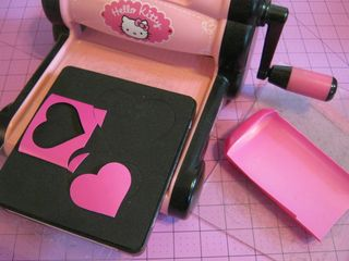 Recycled plastic sizzix die cut heart