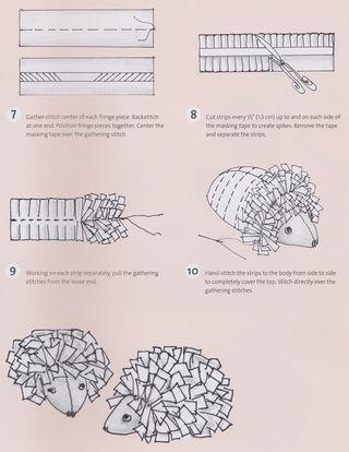 Free hedge hog pattern how to