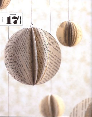 How to make recycled book ornaments
