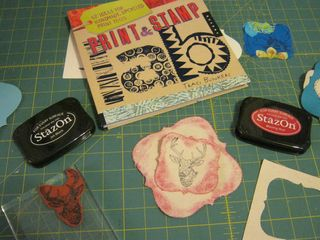 How to staz on stamped fabric coasters