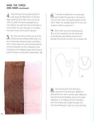 How to make two tone doll arms sew