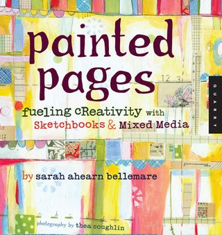 How to paint pages mixed media book