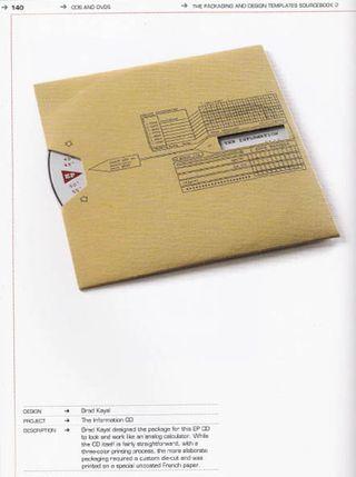 Spinning cd envelope pattern template