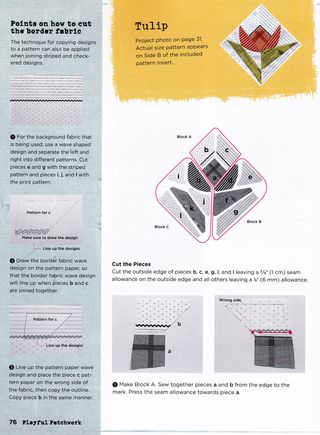 Tulip quilt block pattern free how to