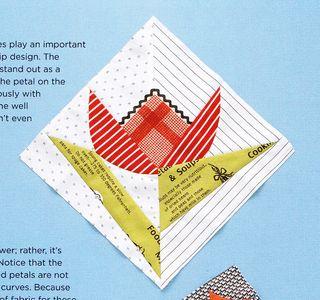 Tulip flower free quilt pattern block