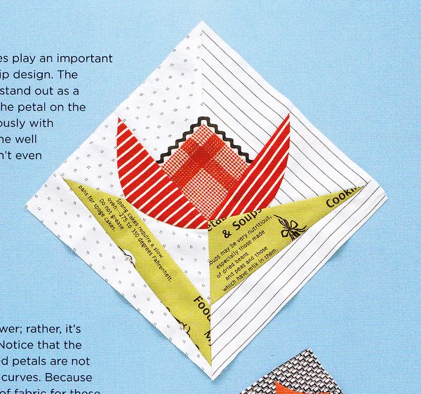 Craftside Tulip Quilt Block Pattern From The New Book