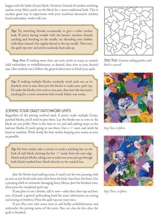 How to shadow crazy quilt block