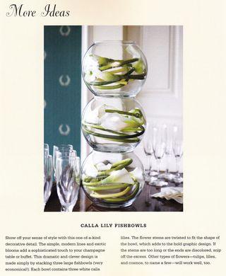 Stacked fishbowl flower arrangement