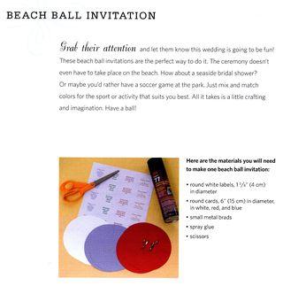 How to make a beach ball invitation card