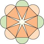 Ice cream cone pattern in circle