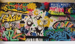 One eye monster clip art graffiti