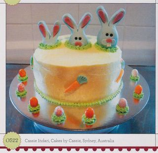 Easter bunny jelly bean egg cake decorate