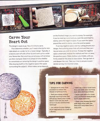 Tips on how to carve stamps Unfurling