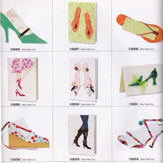 Shoe themed greeting card ideas