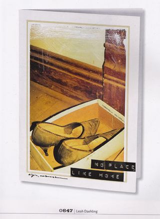Photograph of shoes card