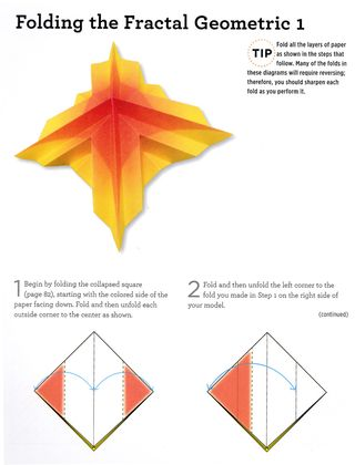 How to fold a fractal geometric origami