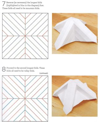 How to make 3-d origami folds