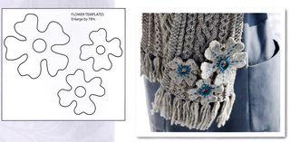 Felt flower template pattern blanket stitch