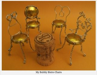 How to make champagne cage chairs