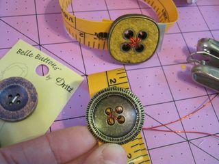Dritz tape measure bracelet button