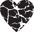 Free clip art crackle heart graphic image