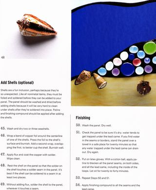 How to use shell in stained glass
