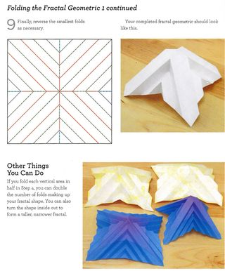 Origami directions for folding fractal