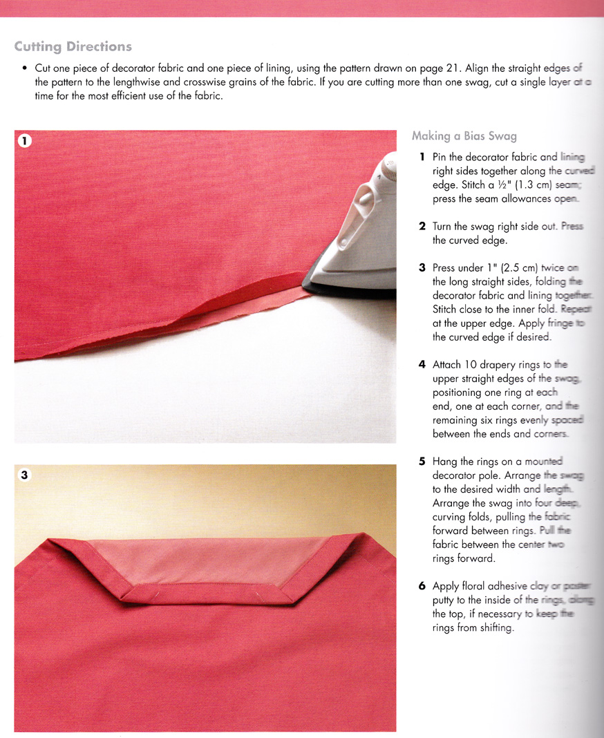 How To Sew A Swag Curtain Panel