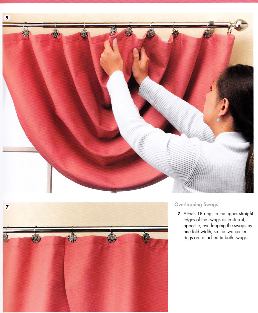 Craftside How To Make Swag Curtain Panels From The Book The Complete Photo Guide To Window Treatments 2nd Edition