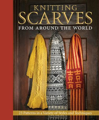 Knitting scarves from around world