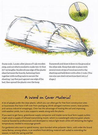 How to make row covers recycled materials