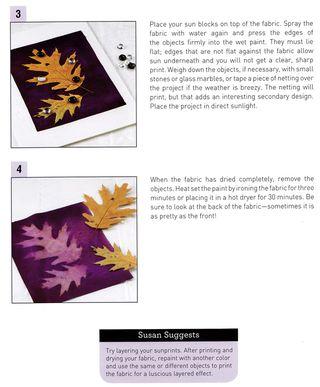How to make sun prints on fabric tutorial