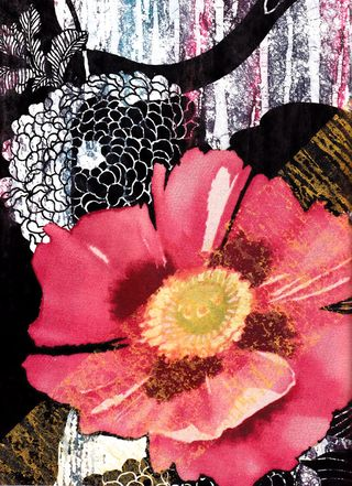 How to paint on fusible web flower