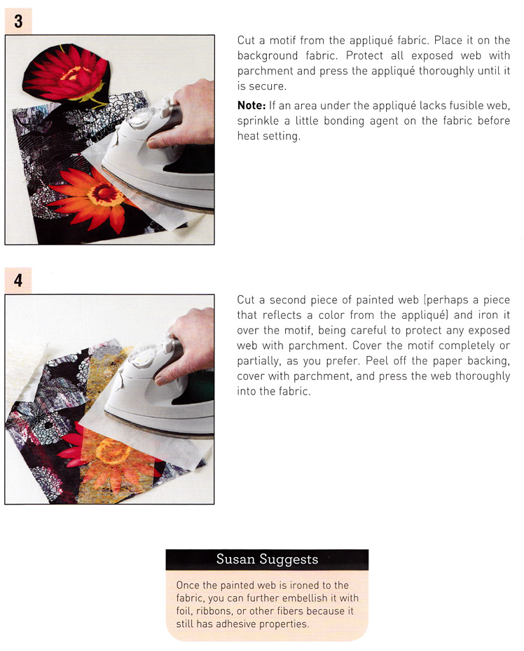 Craftside: How to paint on fusible web from the book The