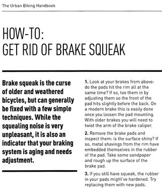 How to get rid of a brake squeak bike