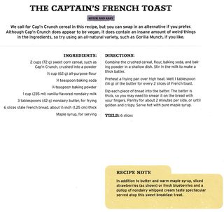 Captain crunch french toast recipe