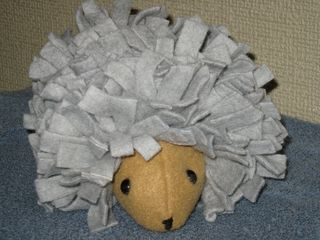 Fabric hedgehog plushie