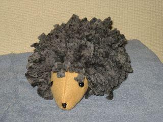 Fabric plushie hedgehog