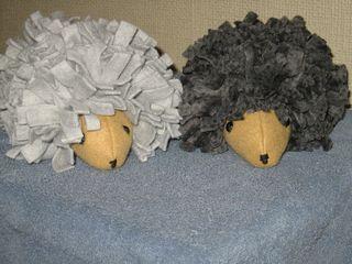 Multicolored hedgehogs softies