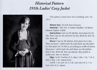 Craftside: Cozy historical knit sweater pattern featured in the book Knitting...