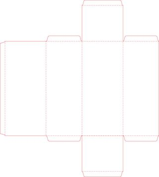 Free sunglasses box template pattern